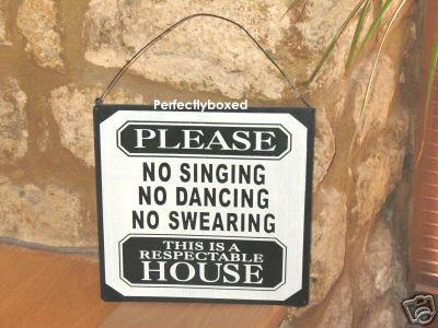 Metal Sign No Swearing Kitchen