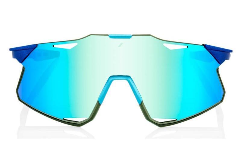 Okulary 100% HYPERCRAFT Matte Metallic Into the Fade - Blue Topaz Multilayer Mirror Lens - HiPER Silver Mirror Lens