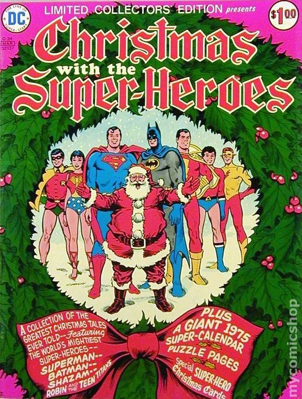 Christmas With The Super Heroes 1975 DC Treasury Edition