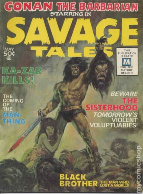 Image result for savage tales #1 1974