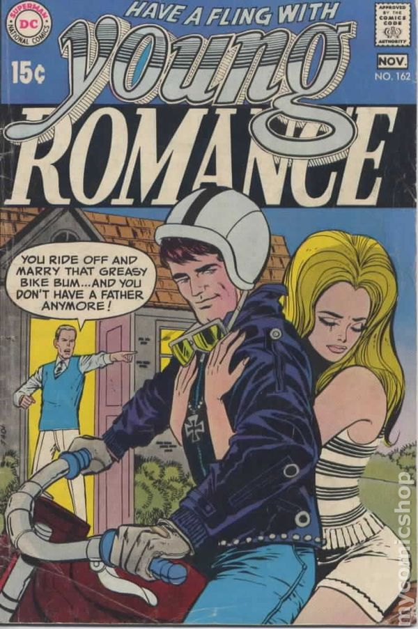 Young romance comics 1963 1975 dc comic books, i love you color pages