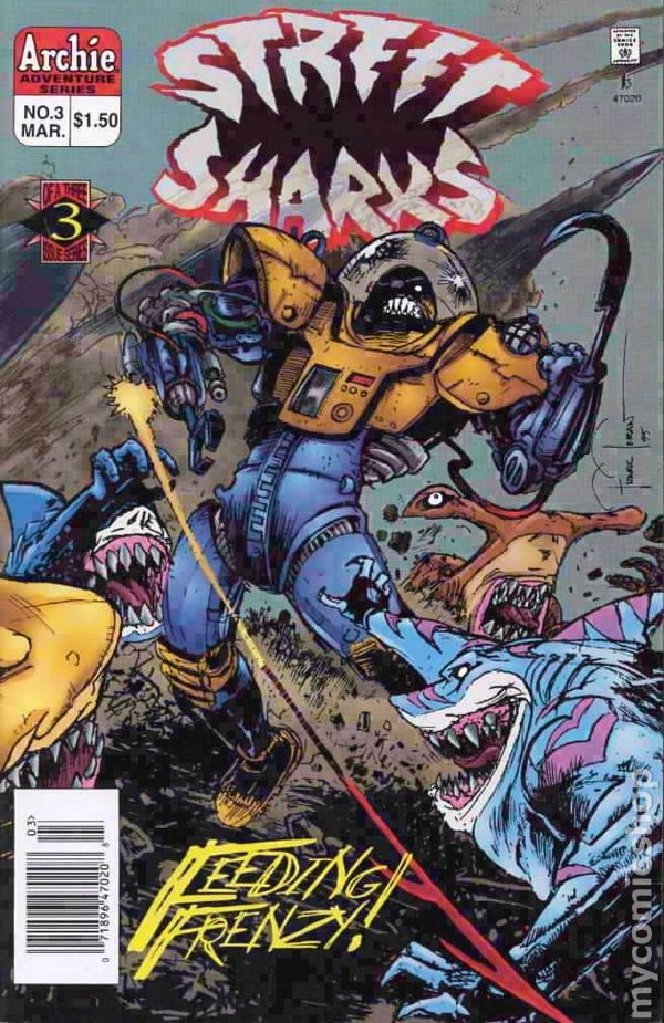 Street Sharks 011996 1st Series Comic Books