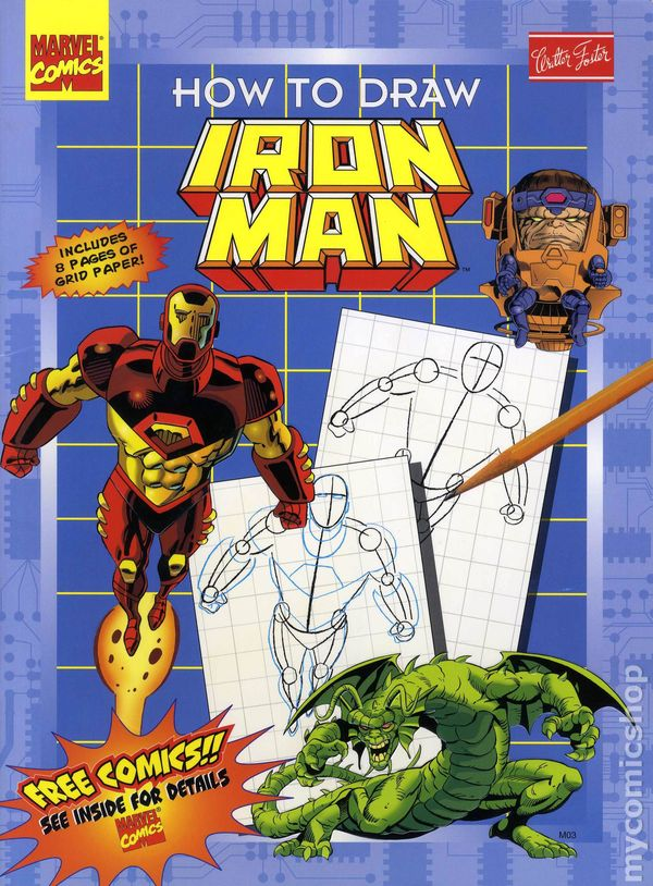 How To Draw Iron Man SC 1997 Walter Foster Comic Books