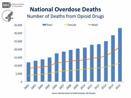 National Overdose Deaths—Number of Deaths from Opioid Drugs.