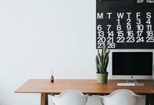 Set aside a designated work space