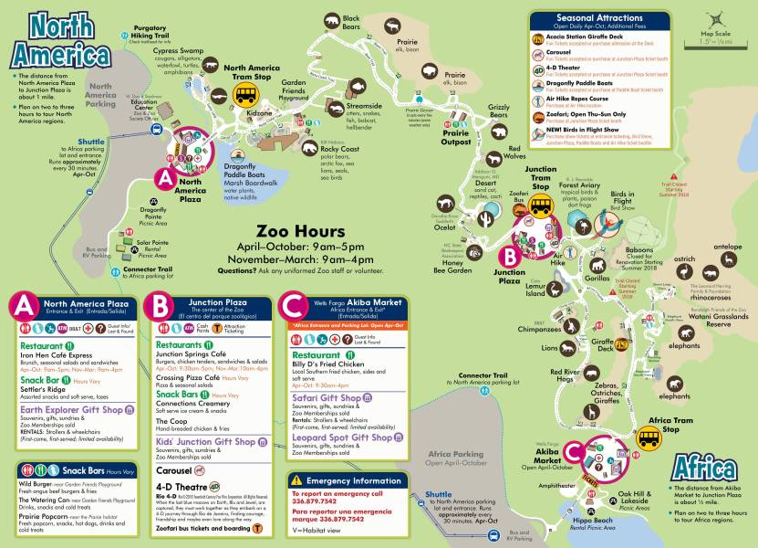 Visit   North Carolina Zoo Directions   Parking      Zoo Map