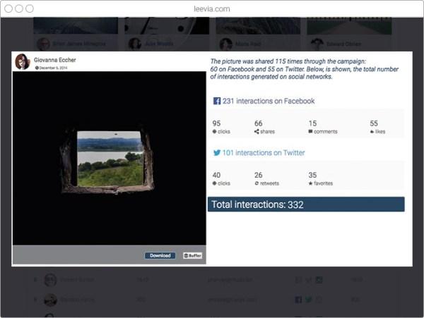 Leevia, lancia e gestisci foto contest sui social