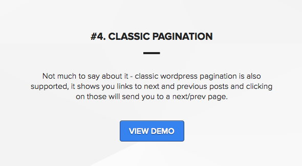 Wordpress theme with ajax pagination