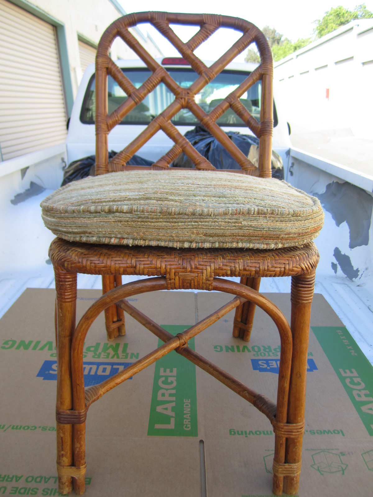 Antique Vintage Bamboo Rattan Wicker Dining Chair Antique Appraisal Instappraisal