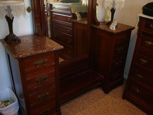 antique bedroom vanity full mirror w