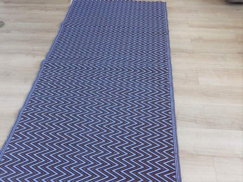 tapis natte africaine 0801 tapis bleu plastique