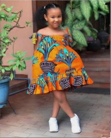 Kids Ankara flared dress by mesentjay - Dresses and Girl Sets - Afrikrea