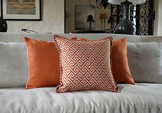 orange throw pillows decorative