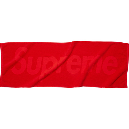 Terry Logo Hand Towel (Red)