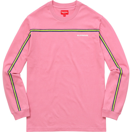 Full Stripe L/S Tee (Pink)