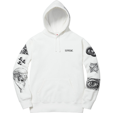 M.C. Escher Hooded Sweatshirt (White)