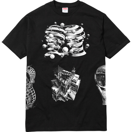 M.C. Escher Collage Tee (Black)