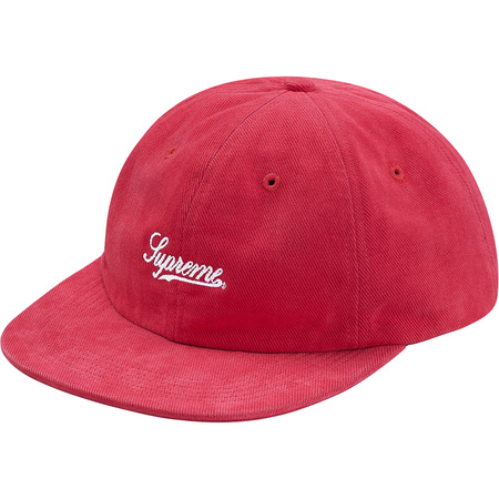 Brushed Twill Script 6-Panel (Red)