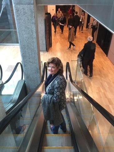 Megan escalator NGV
