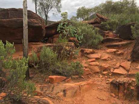 Steep steps Arkaroo rock