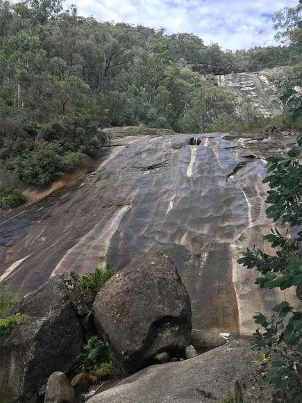 Eurobin falls flat rocks