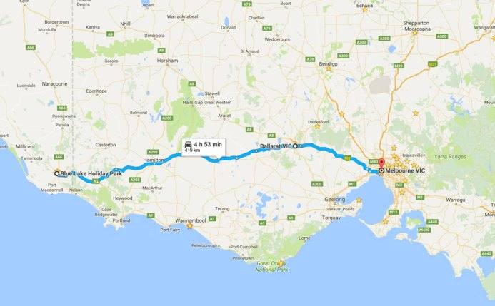 | Highlights - Ballarat to see some friends, finally arriving home after a long day of driving in the wet!