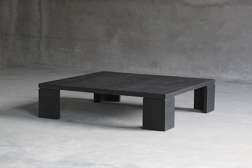 square block reclaimed elm coffee tables