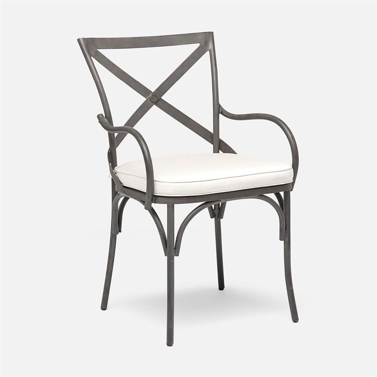 outdoor metal x back dining chair