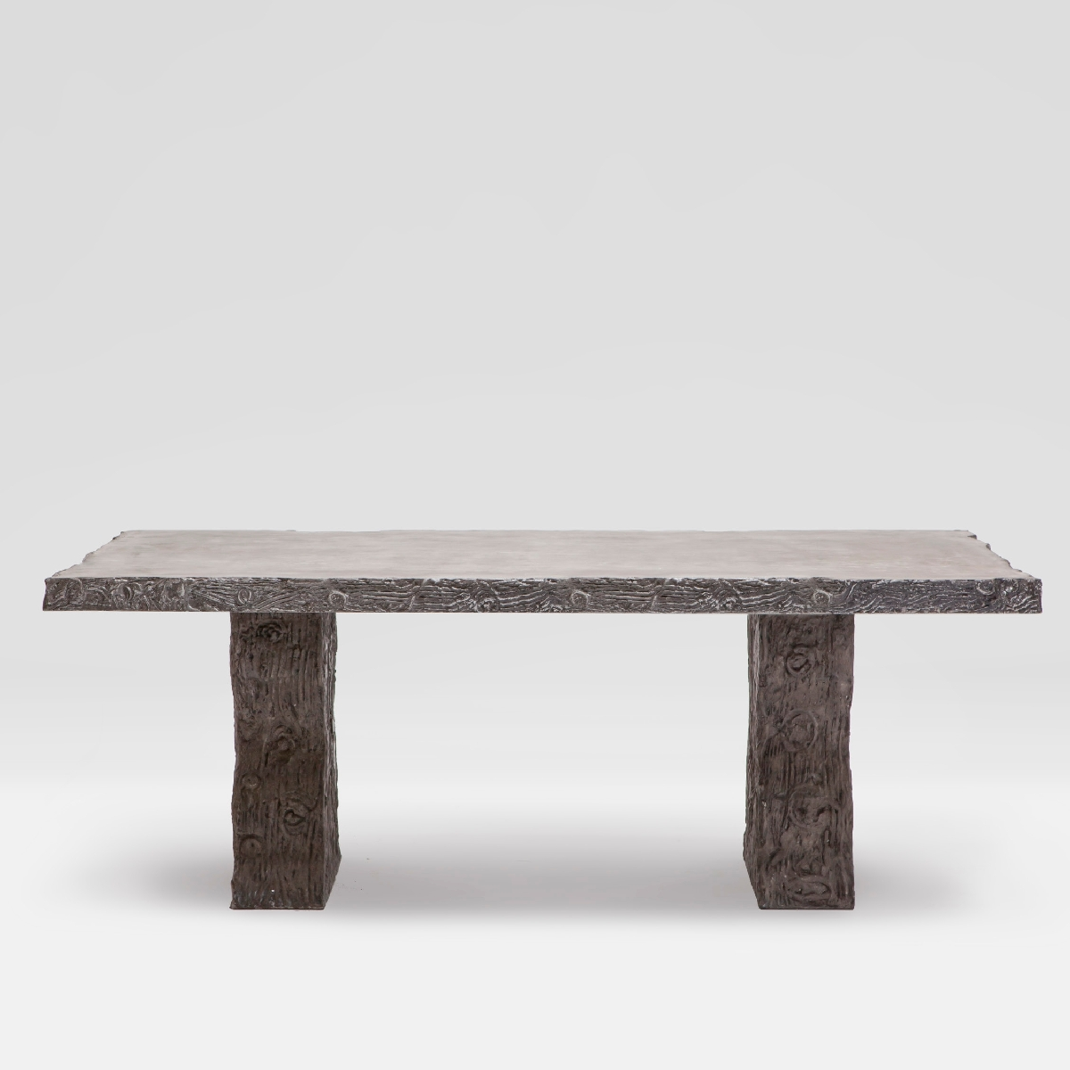 faux bois outdoor concrete dining table