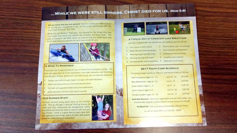 My Business Plan: Crescent Lake Bible Camp | PrintRunner Blog