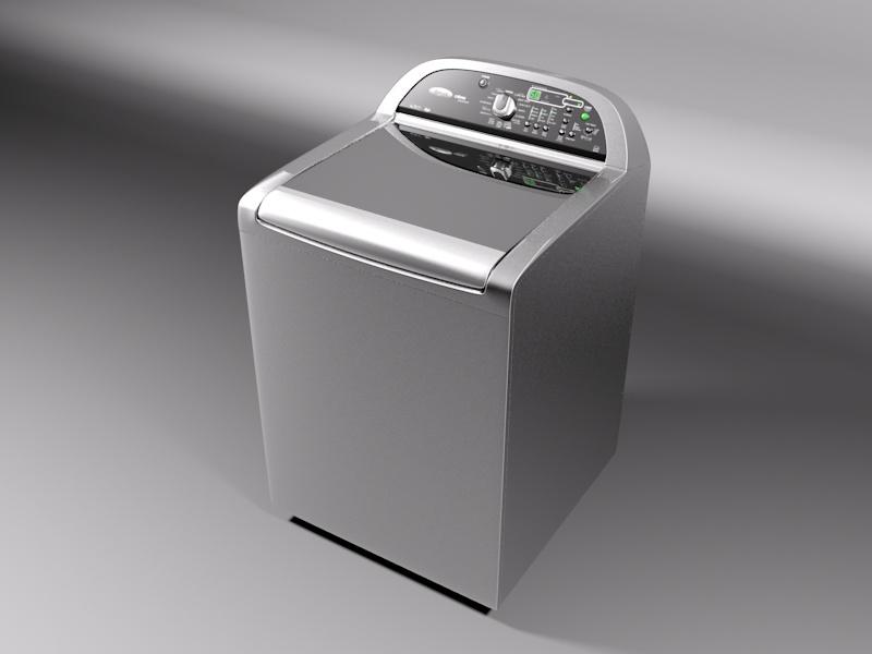 Whirlpool Cabrio Washing Machine 3D Model