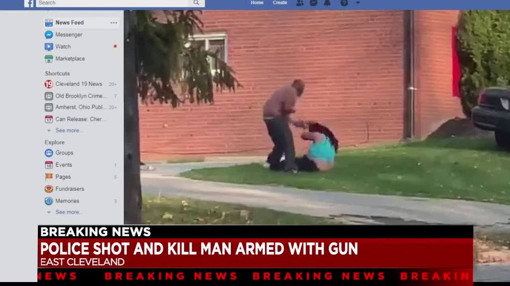 """WATCH: """"That's My Mom"""" Lord Have Mercy… Police Gun Down A Man After He Pistol Whooped A Mother In Front Of Her Son In East Cleveland, Ohio!"""