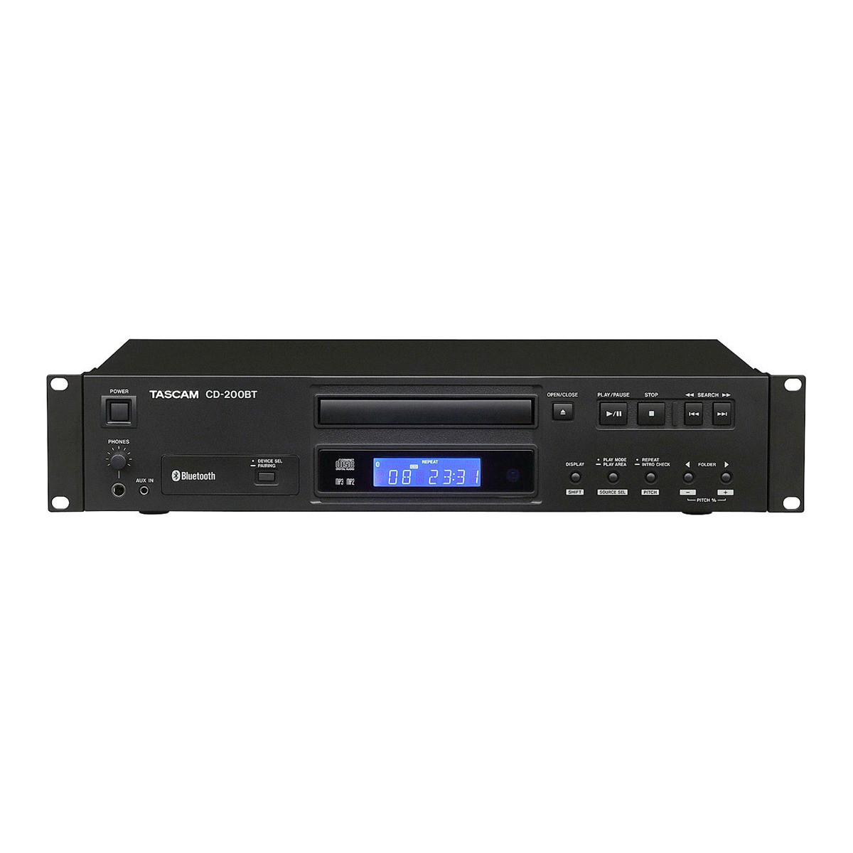 tascam cd 200bt rack mount cd player with bluetooth