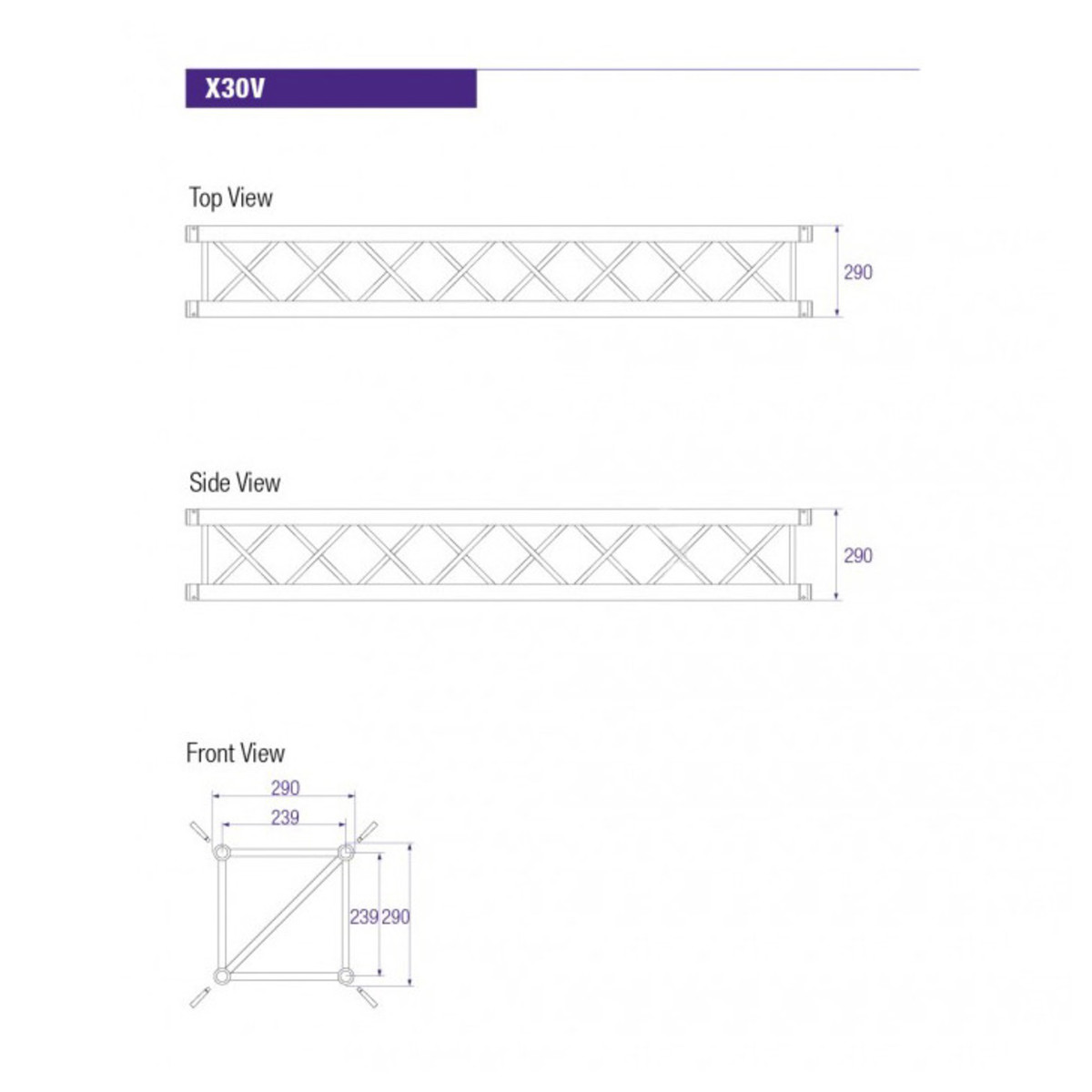 Prolyte X30v Square Truss 2m At Gear4music