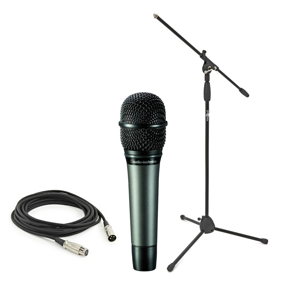 Audio Technica Atm610 With Boom Mic Stand And Cable At