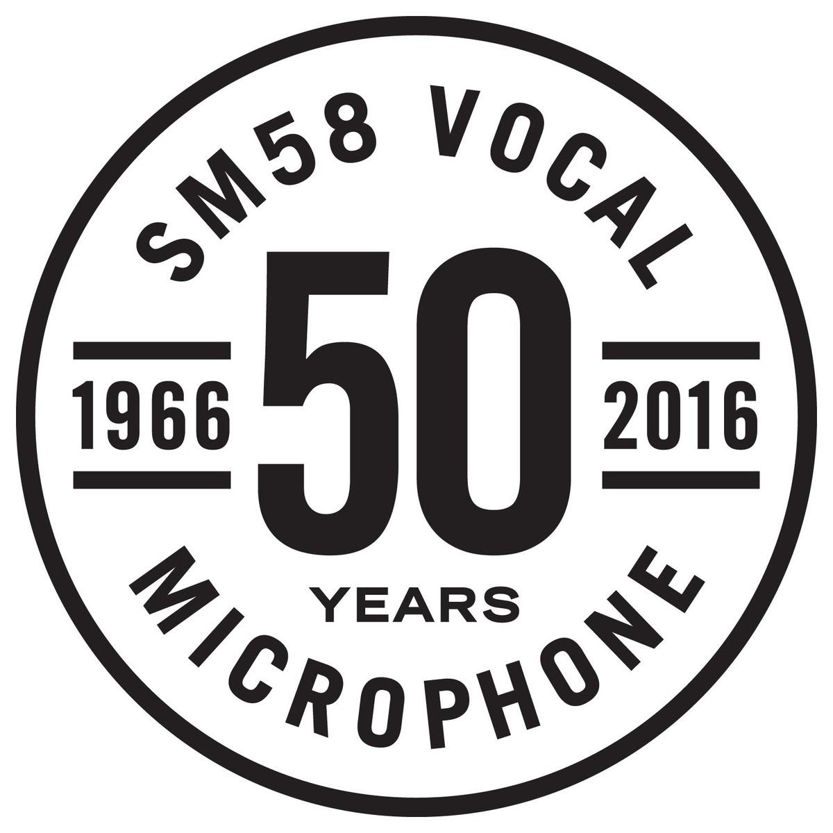 Shure Sm58 50a Ltd Edition Dynamic Cardioid Vocal