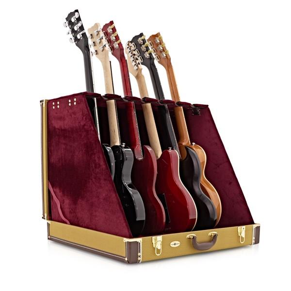 6 guitar rack case by gear4music tweed