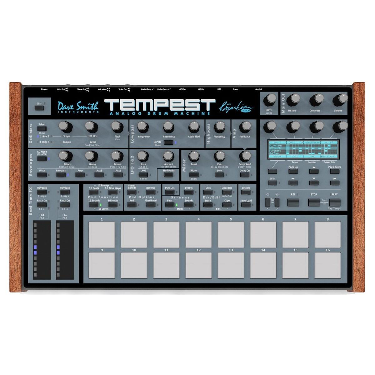 Dave Smith Instruments Tempest Analog Drum Machine At