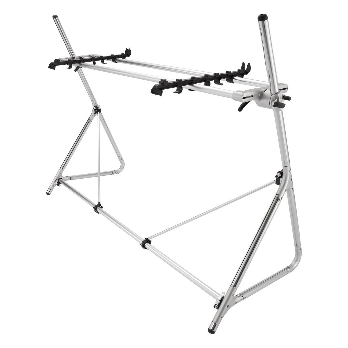 Sequenz Standard Double Tier Large Keyboard Stand Silver