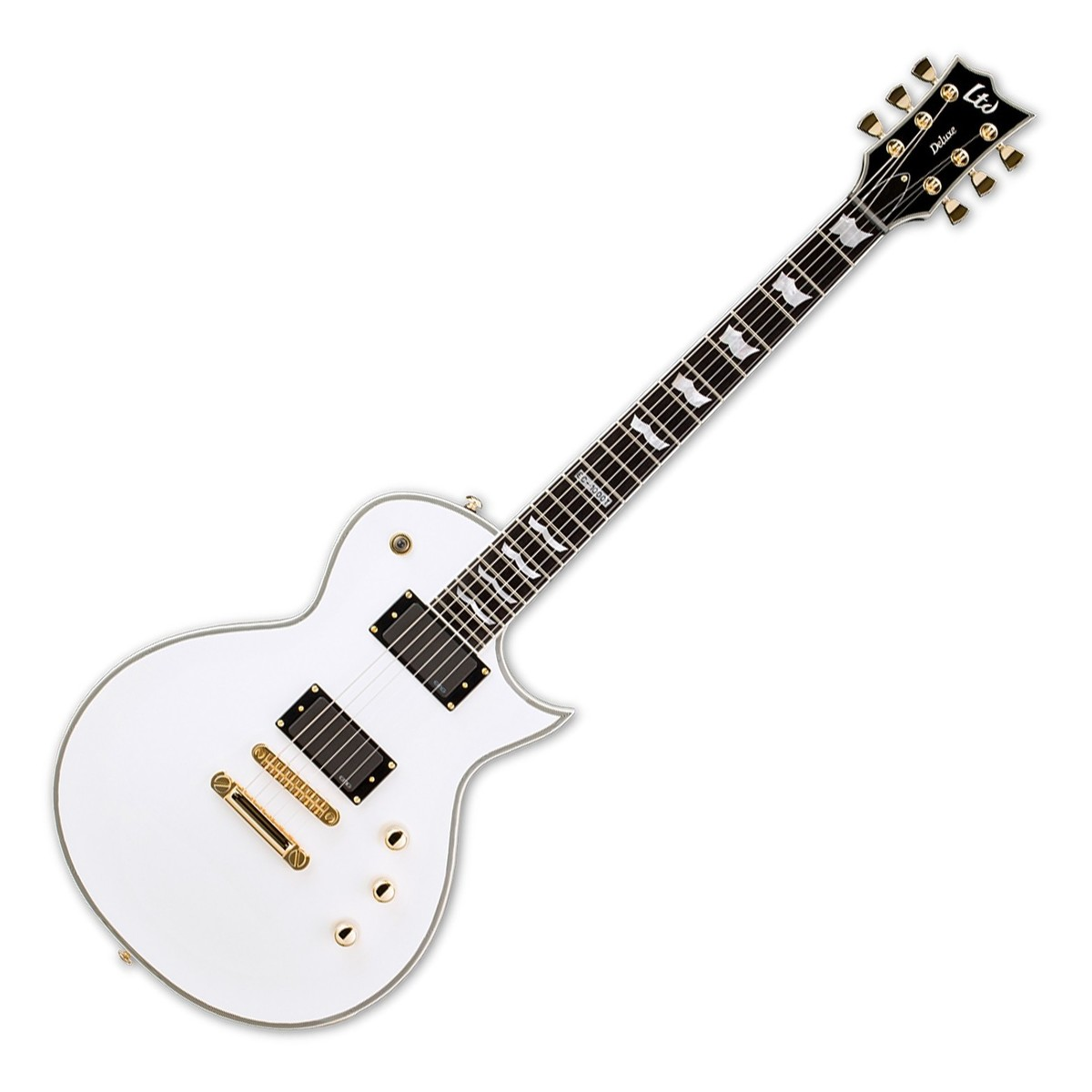 Esp Ltd Ec T Ctm Electric Guitar Snow White At Gear4music