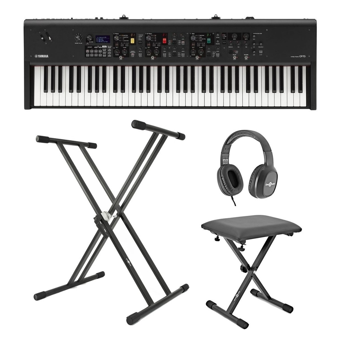 Yamaha Cp73 Digital Stage Piano X Frame Package At Gear4music