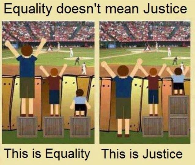Equality doesn't mean Justice cartoon