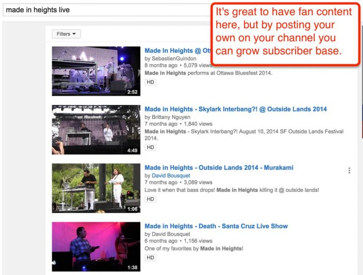 search opportunities on youtube