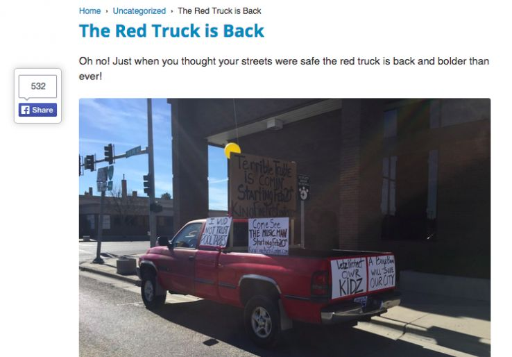 facebook ads red truck