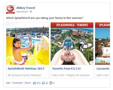 Abbey Travel SplashWorld Facebook MPA
