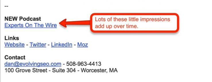 Email signature.