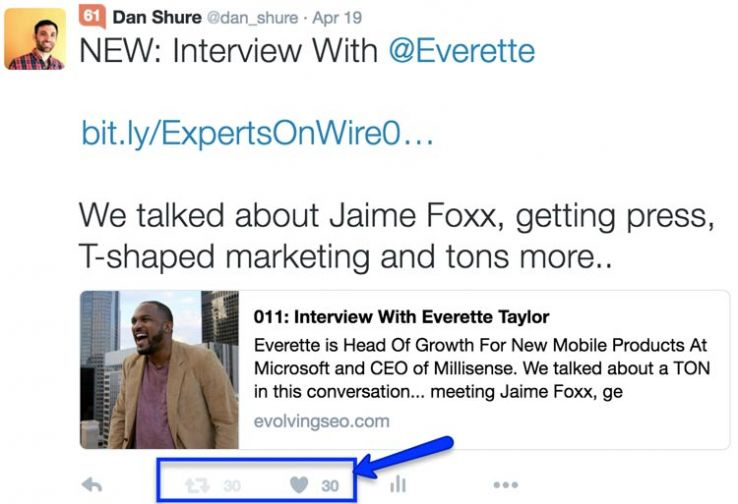 Tweet about podcast with Everette Taylor.