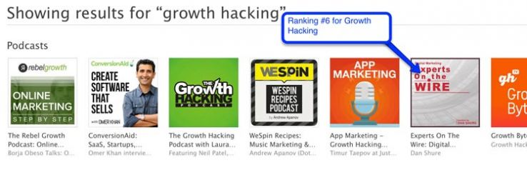 """iTunes results for """"growth hacking"""""""