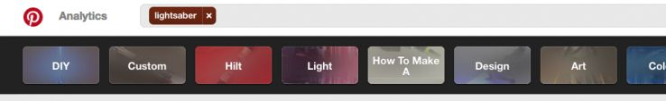 Pinterest Lightsaber Tags
