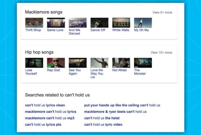 """Example of """"people also search for"""" box"""